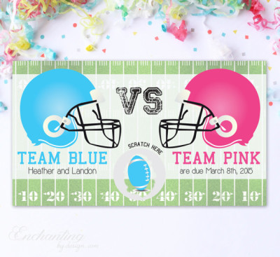 Baby Gender Reveal Scratch Off Cards