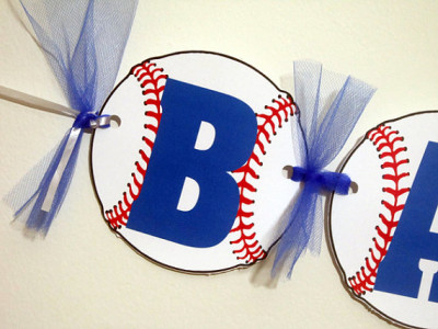 Baseball Banner - Baseball Baby Shower Banner - Baseball Birthday Banner