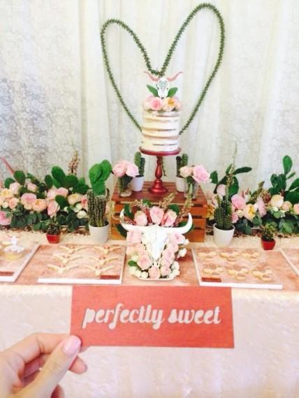 Desert & Rose Inspired Celebration decorations