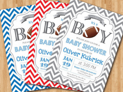 Football Baby Shower Invitation