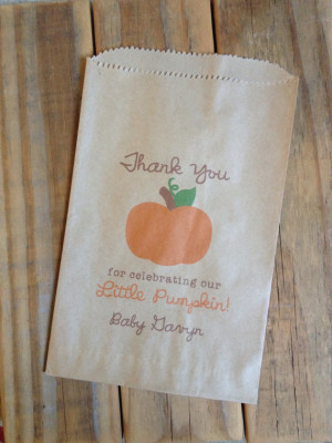 Little Pumpkin Favor Bags Fall Baby Shower