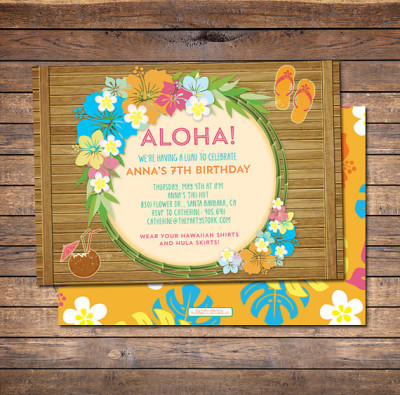 Luau Invitation