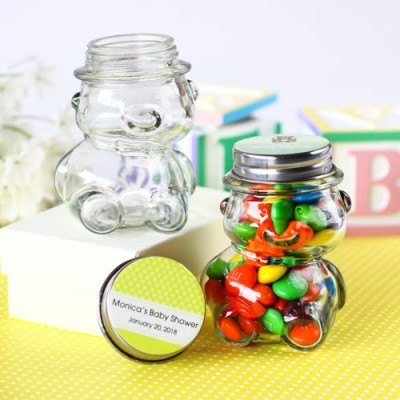 Personalized Baby Shower Teddy Bear Candy Jars