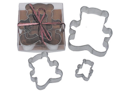 Teddy Bear Cookie Cutters party treats clay, crafts, fondant, stencils favors