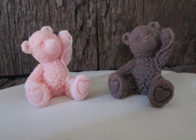 Teddy Bear Shea Butter Baby Shower Soap Favors