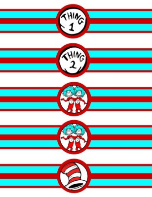 dr seuss thing 1 thing 2 napkin wrappers