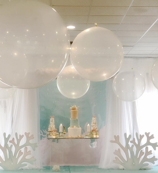 Under the Sea Themed Baby Shower Clear Balloon Bubbles