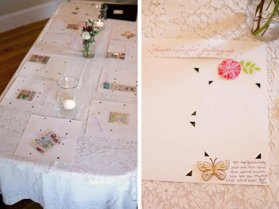Whimsical Vintage Baby Shower table setting