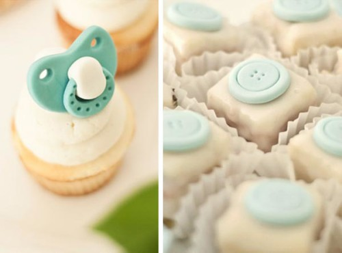 edible pacifier cupcake toppers