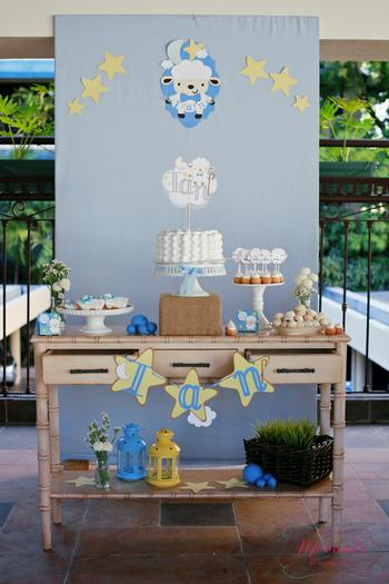 dessert-table-the-lord-is-my-shepherd-baby-shower