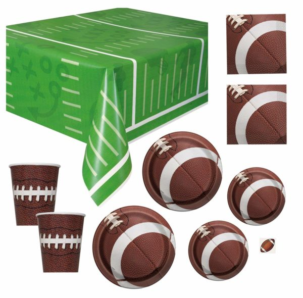 football-baby-shower-tableware