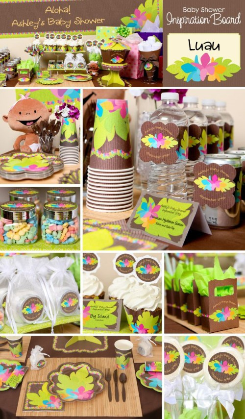 luau themed baby shower ideas