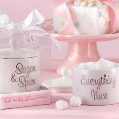 sugar, Spice and Everything Nice Ceramic Sugar Bowl