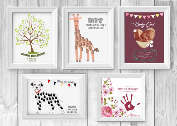 unique and personalized prints that can be keepsakes, gifts or announcements for your newborn baby