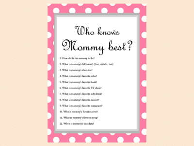photo relating to Who Knows Mommy Best Printable referred to as Totally free Boy or girl Shower Sport - Who understands Mommy Ideal - Child Shower