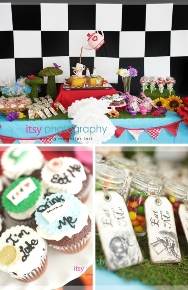 Alice in Wonderland Mad Hatter Tea Party Tablescape