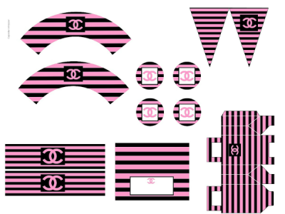 Black and Pink COCO Chanel Party Printable
