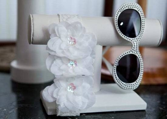 Breakfast at Tiffany's Baby Shower flowers and diamonds