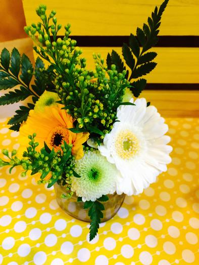 Bright Yellow Giraffe Baby Shower florals