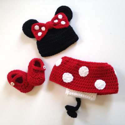 Mickey and Minnie Mouse, Crochet Mickey and Minnie, Twin Photo Prop