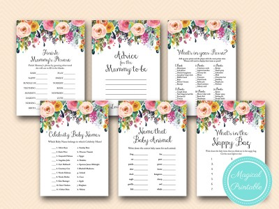 Shabby Chic Baby Shower Game Printable