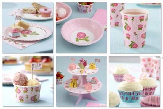 Pink Shabby Chic Baby Shower Ideas Tablewares