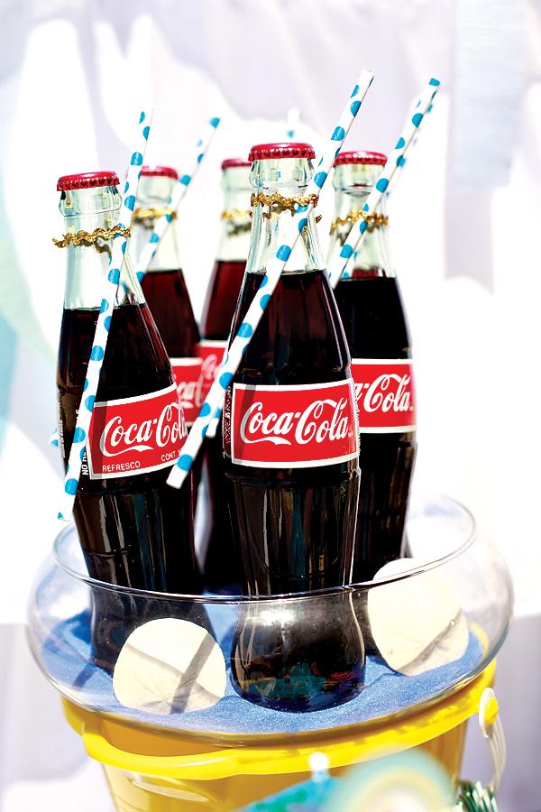 Vintage Beach Theme Baby Shower cola