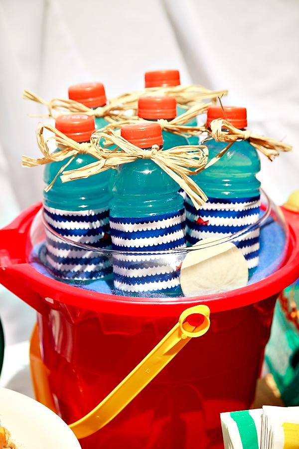 blue wave label water bottles