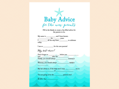 baby maf libs advice for new parents beach baby shower