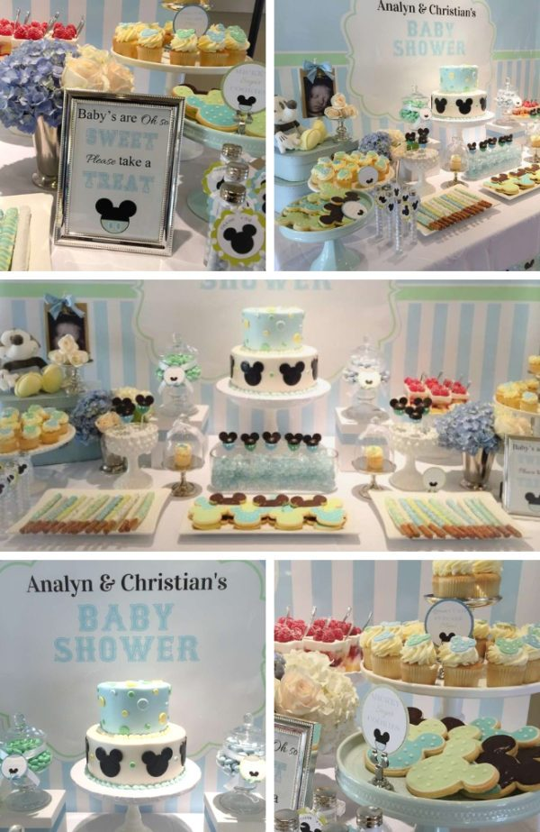 blue mickey mouse baby shower