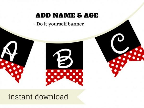disney minnie mouse baby shower banner