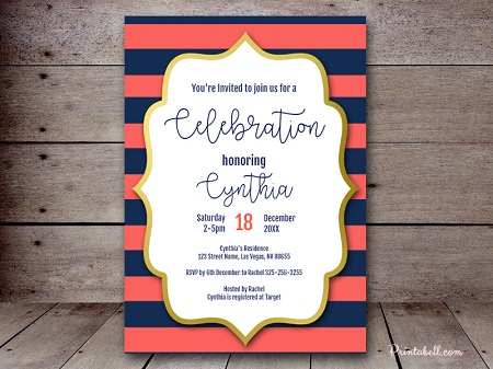 editable-coral-and-navy-baby-shower-invitation