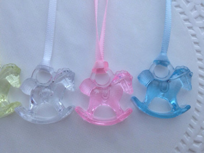 12 Rocking Horse Baby Shower Game Necklaces