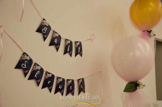 Chalkboard Shabby Chic Baby Shower banner