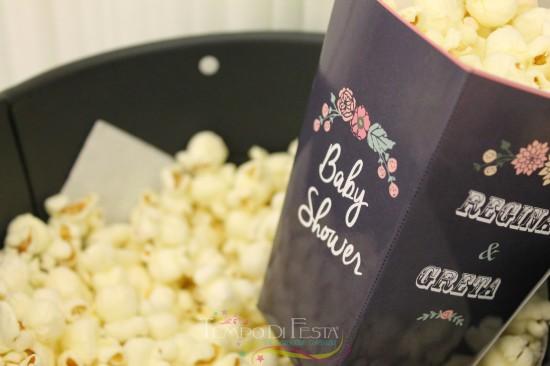Chalkboard Shabby Chic Baby Shower popcorn