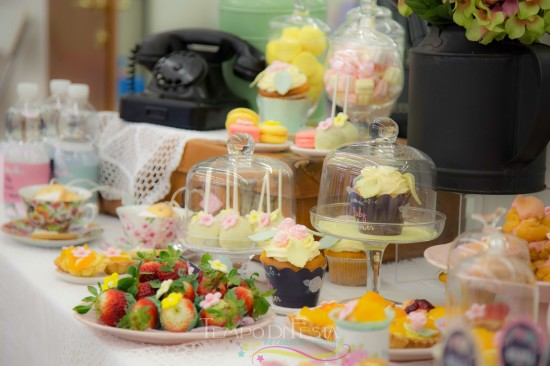 Chalkboard Shabby Chic Baby Shower treats and food