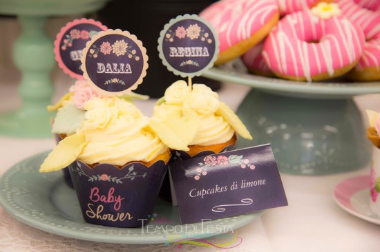 Chalkboard Shabby Chic Baby Shower treats and food cupcake printable