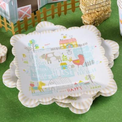 Happy Little Farm 7 Party Plates