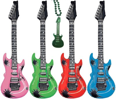 Inflatable Rock Star Electric Guitars Assorted Colors