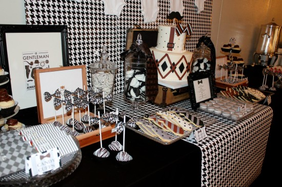 Little Gentleman Baby Shower dessert tablescape