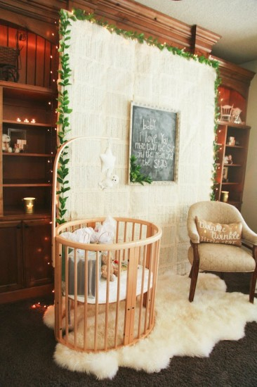 Twinkle Twinkle Little Star Baby Shower crib
