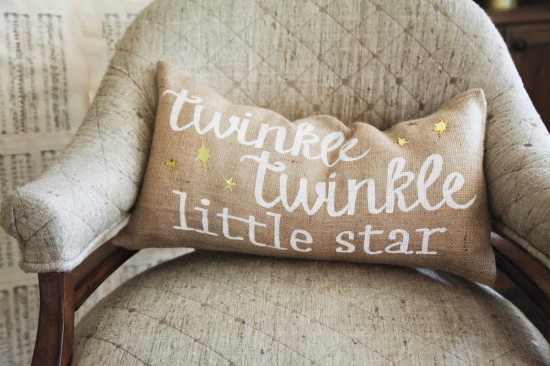 Twinkle Twinkle Little Star Baby Shower cushion