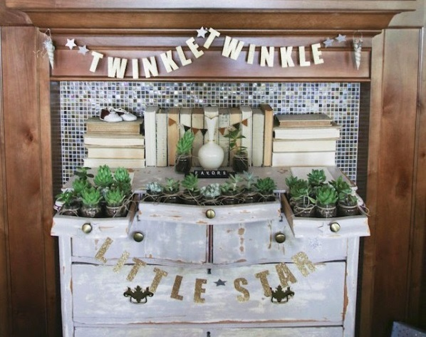 Vintage Twinkle Twinkle Little Star Baby Shower