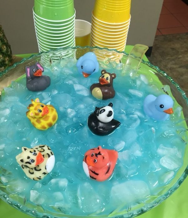 zoo baby shower drink punch idea