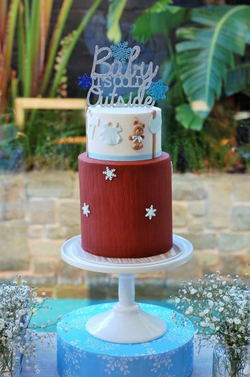 Baby It's Cold Outside Baby Shower cake