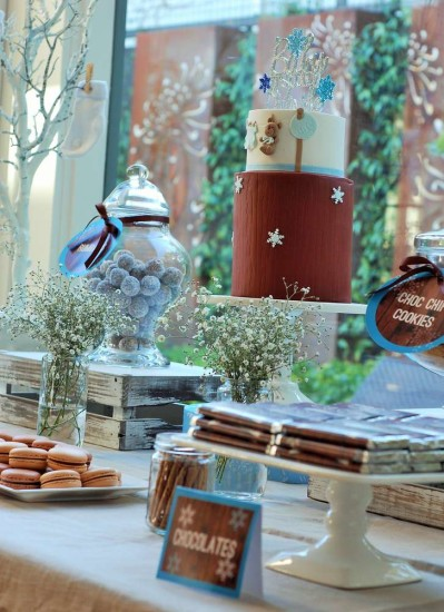 Baby It's Cold Outside Baby Shower dessert table ideas
