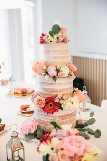 Boho Chic Inspired Baby Shower 3 tiered cake