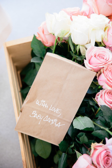 Boho Chic Inspired Baby Shower market paper bags