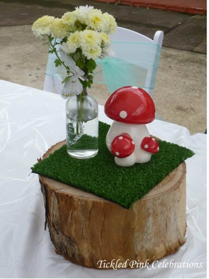 Enchanted Garden Baby Shower decoration ideas, table setting, table centerpiece