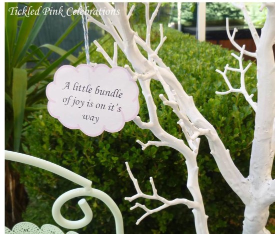 Enchanted Garden Baby Shower decoration, little bundle on the way